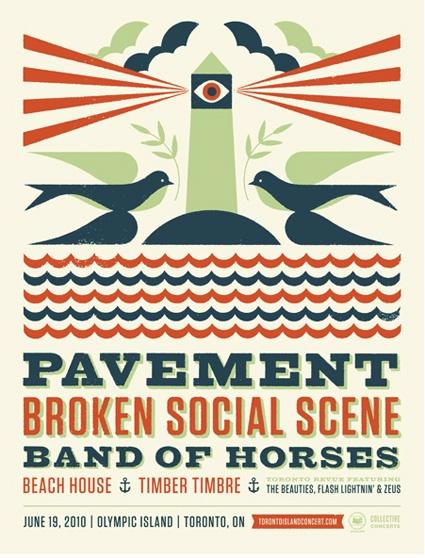Pavement & Broken Social Scene concert poster by Doublenaut