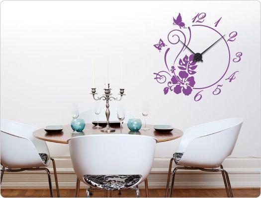 25 best ideas about wandtattoo uhr on pinterest wandtattoo esszimmer wanduhr holz and uhr holz. Black Bedroom Furniture Sets. Home Design Ideas