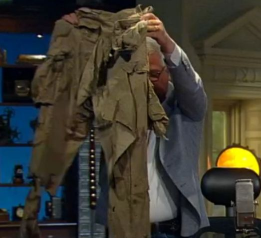 Wow, Marcus Luttrell's pants from Operation Redwing. Found by the Afghans on the mountain 2 years later, they washed them and tried to sew them back up but they are still shredded