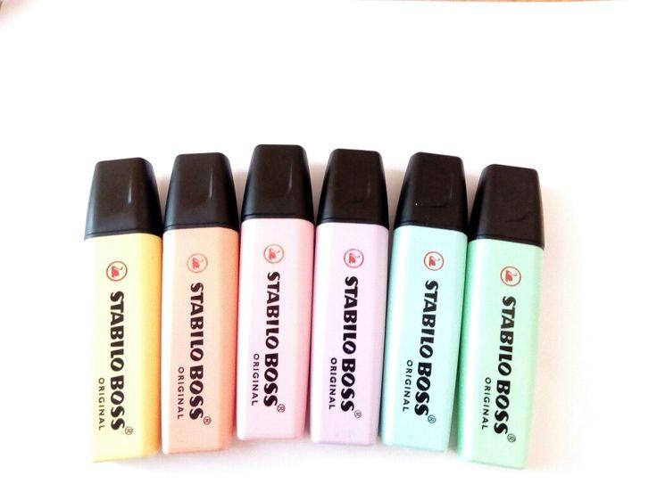 Stationery love. Stabilo Boss Original Pastel