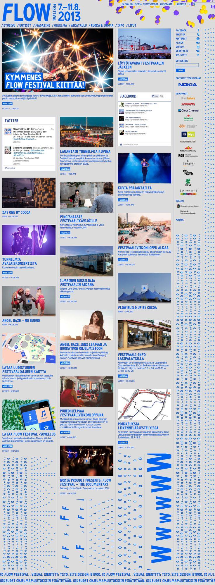 Flow Festival website - designed by Byroo. http://www.byroo.fi/