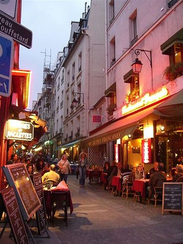 Rue Mouffetard in Paris, is fantastic, its full of gorgeous , shops, bars & restaurants, it was one of my favourite places
