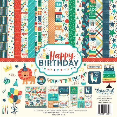 Echo Park Paper Company Happy Birthday Girl 6x6 Paper Pad