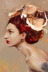 Lita Cabellut - Contemporary Artist - Portrait - Coral girls 16