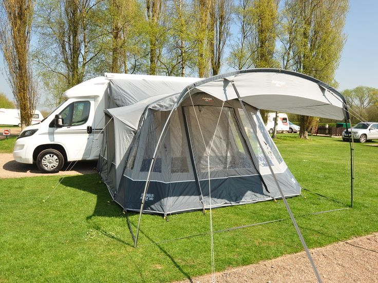 Practical Motorhomes Expert Tests The New Vango Attar 380 Tall Inflatable Awning A Spacious Drive Away For