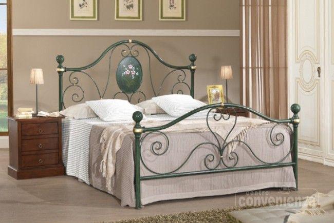Letto matrimoniale in ferro verde decap esclusi materassi reti e coperture must have - Ikea letto matrimoniale ferro ...