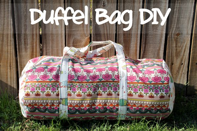 OOO this is right up my alley. Always looking for projects to make for men. If you use the right patterned material this would be great for a guy. Maybe use camo print or other manly fabrics! punk projects: Duffel Bag DIY