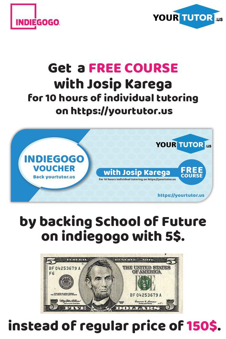 Back us with 5$ and get a Free Course with Josip Carega. #freecourse #josipcarega #individualtutoring