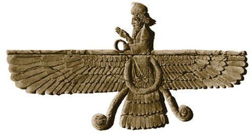 Ahura Mazda, the Zoroastrian god of the Persian Empire