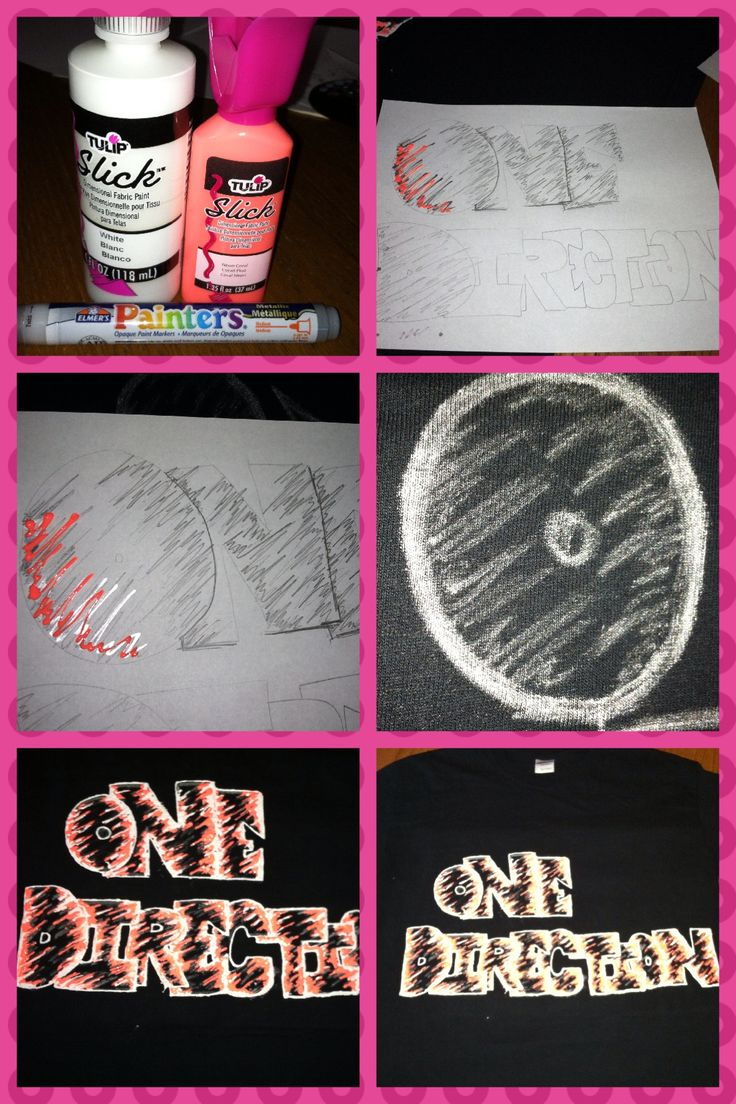 Design t shirt one direction - Diy One Direction Shirt