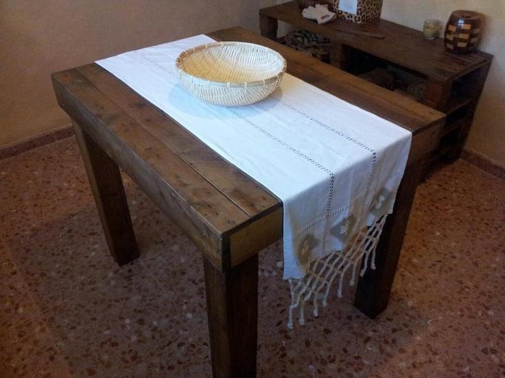 Mesa de palets reciclar pinterest mesas - Mesa de palets ...