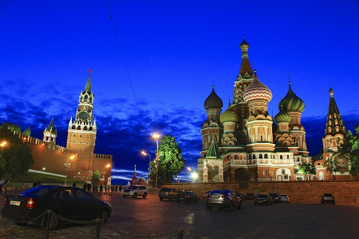 Red Square turns Blue.