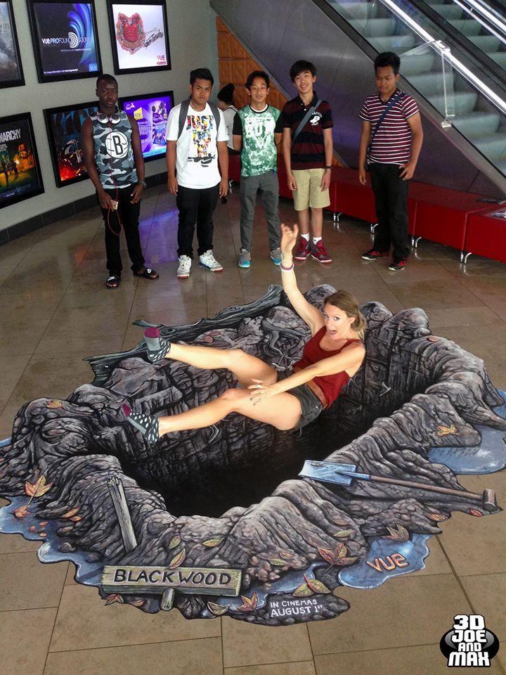 Joe Hill Art - 3D Pavement Art