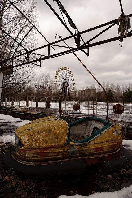 Bumper car at Chernobyl. Would combine this with our trip to Russia