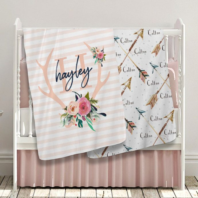 High-quality soft fleece baby blankets. Personalize with your custom text!