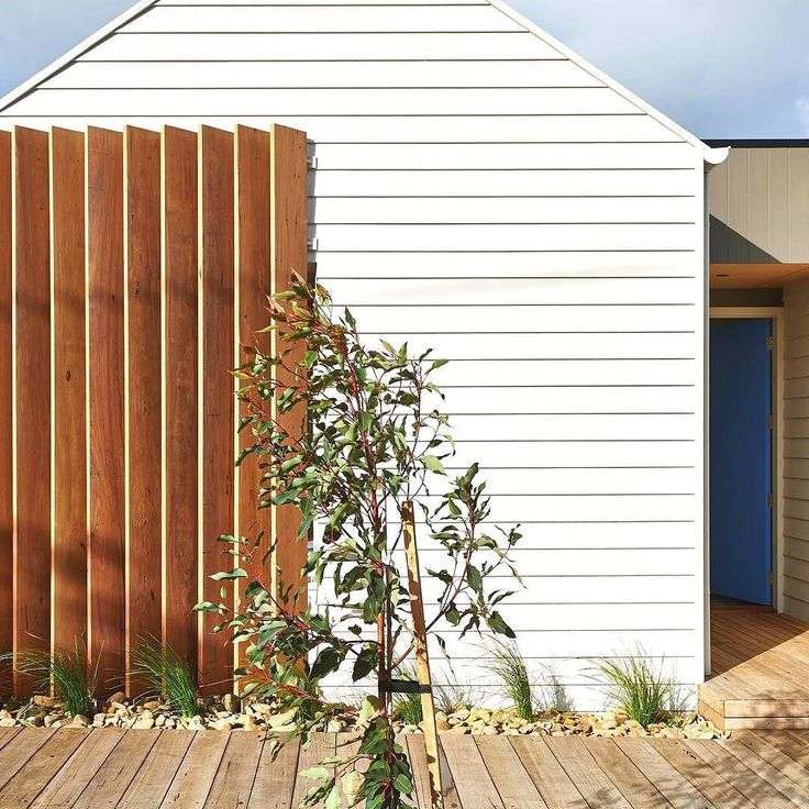 Sometimes the simplest things work the best. This timber screen protects the windows and Scyon keeps the white walls looking fresh. By @alterecodesign. Build by @jardinehomes by @nikoleramsay #australianarchitecture #architecture #exterior #exteriordesign #scyonwalls