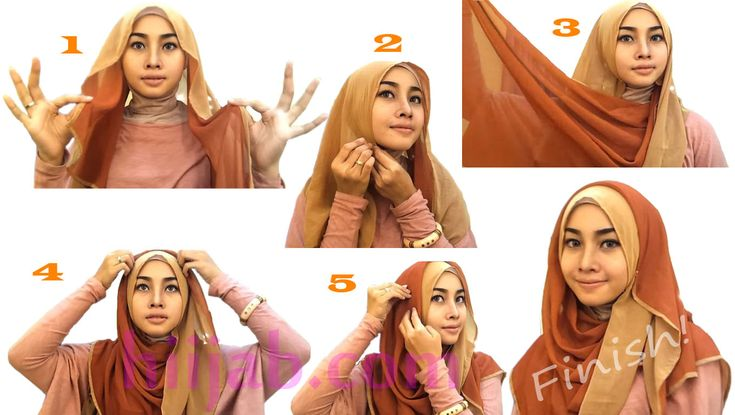 Tutorial Hijab Segi Empat Tanpa Ciput Cara memakai hijab pashmina