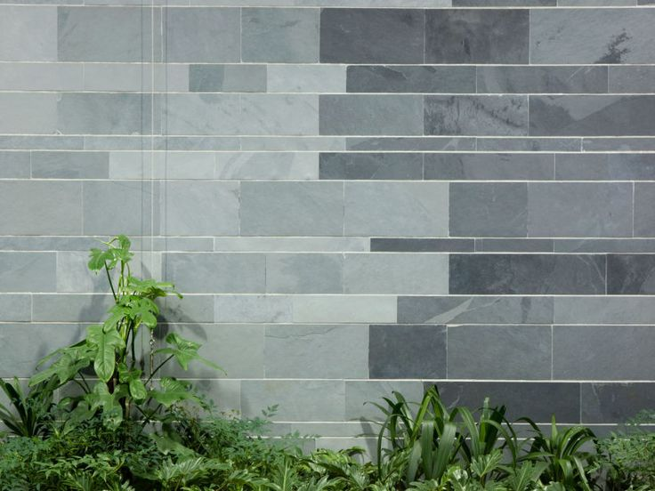 Eco Outdoor Abyss and Atlantic split stone slate wall cladding.