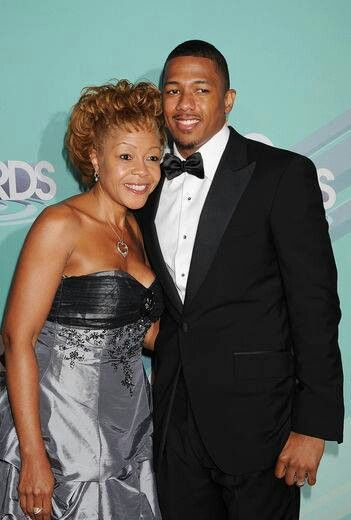 Nick Cannon with mom