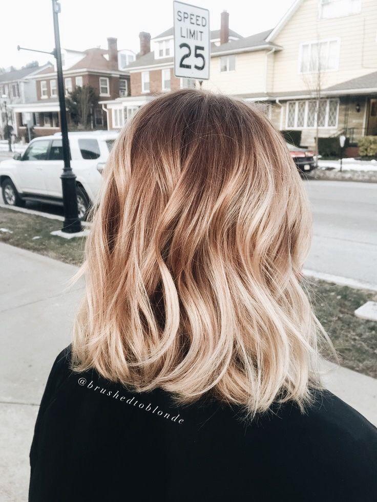 Light Blonde Long Bob Ombre Hair Blonde Hair Lengths Blonde