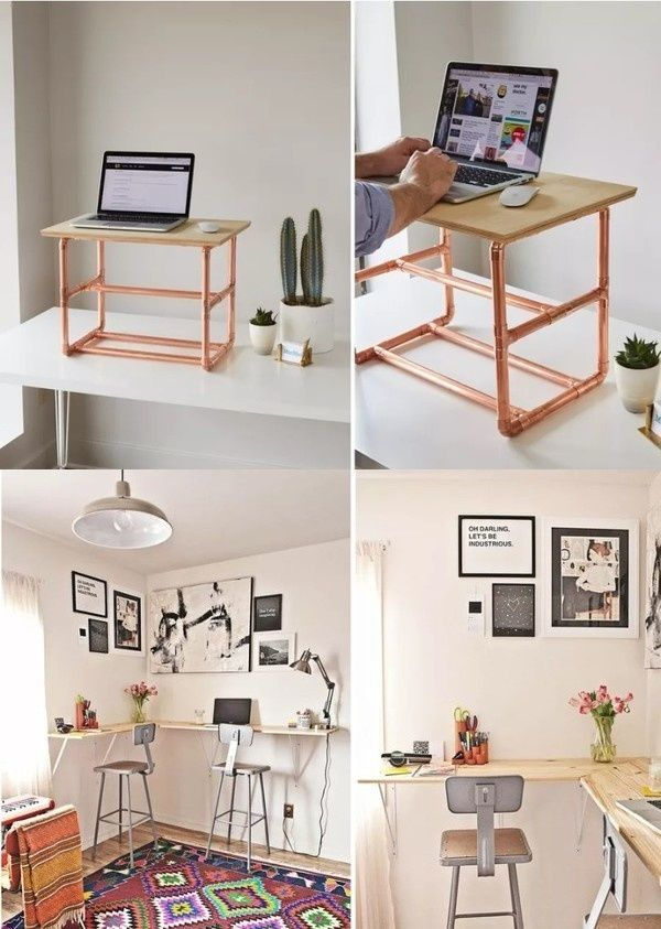 Leading computer desk designs for small bedrooms Mini Office