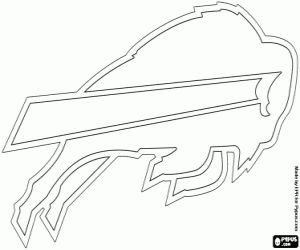 Buffalo Bills emblem coloring page