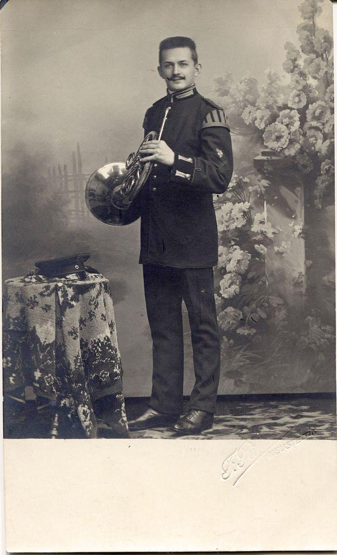 Paul Meirich, Musiker, Neustettin 1910, Fotostudio F. Rittscher? (Adressbuch 1933)