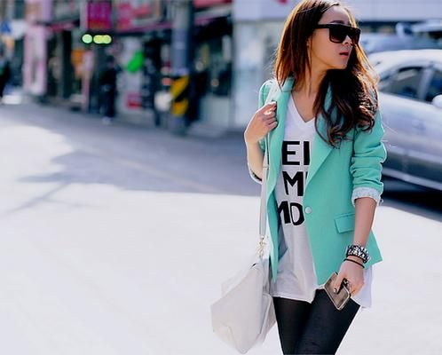 Mint BlazerMinty Blazers, Casual Outfit, Tiffany Blue, Aqua Blazers, Colors Blazers, As Blazers, Mint Colors, Black Blazers, Colours Blazers