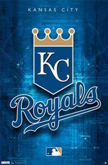 Kansas City Royals Official MLB Team Logo Poster - Costacos