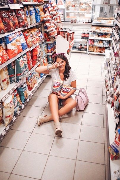 7423727dcc what to wear while shopping at 7-11. Blogger Sarah Lindner of The House of  Sequins 7-11 style