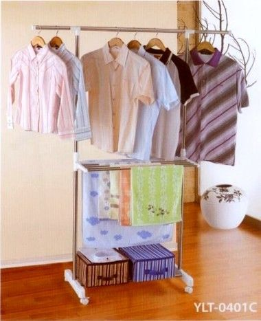 Adjustable Clothes Rail. Made of Stainless Steel and plastic and capable of carrying up to 25kg