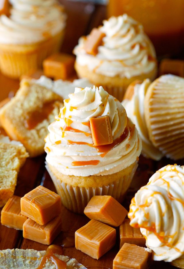 The 68 most delish cupcakes salted caramel cupcakes for How to make halloween cupcakes from scratch
