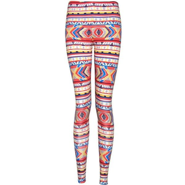 FAIR+true Sustain Sustainable Bright Print Leggings ($56) ❤ liked on Polyvore featuring pants, leggings, bottoms, jeans, calças, print leggings, tribal pattern leggings, bright pants, legging pants and tribal print trousers