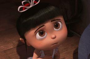 """8 personagens dos filmes de animação tão fofas que te fizeram suspirar Agnes A filha caçula do Gru além de inteligente é extremamente meiga. Tanto é que nenhuma pessoa que assistiu ao filme conseguiu esquecer o seu grito: """"É tão fofinho que eu quero morrer"""". Aposto que foi o que você pensou quando viu a garotinha pela primeira vez."""