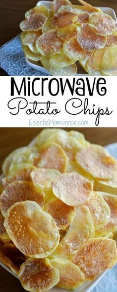 6 minutes to crisp microwave potato chips. No special tools required. #recipe