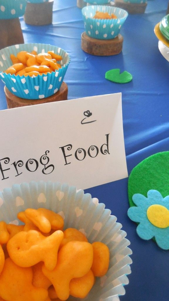 Frog Food - Goldfish Crackers