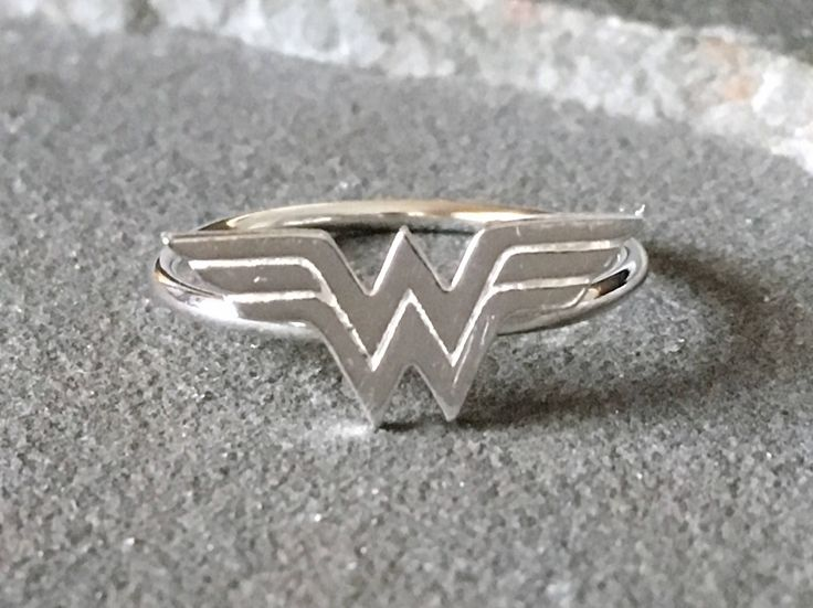 Sterling Silver Wonder Woman Ring, Wonder Woman Ring, Superhero Ring, Superhero Jewelry, Comic Con Jewelry, Superhero Ring, Novelty Ring by SilverSculptor on Etsy