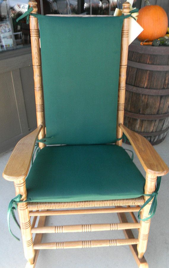Indoor Rocking Chair Iron Cushions / Outdoor - Fits Cracker Barrel Rocker Solid Hunter Dark Green ...