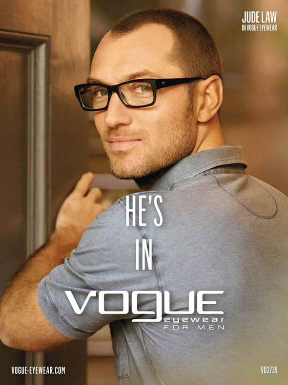 Jude Law for Vogue Eyewear S/S 13 | Grey is great!