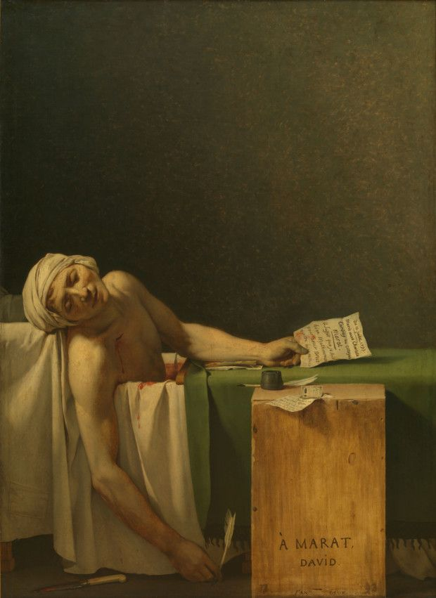 Jacques-Louis David, The Death of Marat, 1793 Royal Museum of Fine Arts Belgium