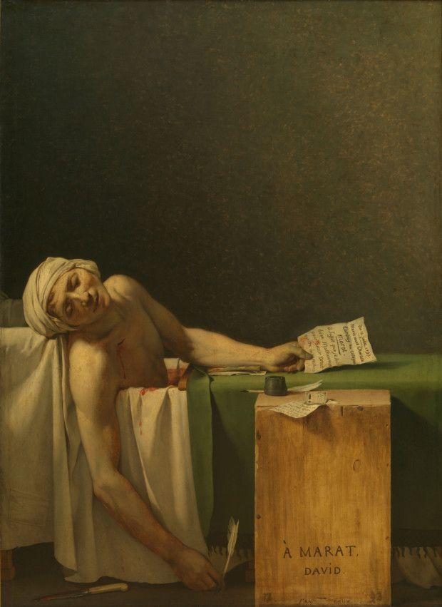 Jacques-Louis David, The Death of Marat, 1793 Royal Museum of Fine Arts Belgium