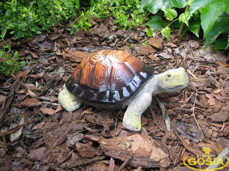 Żółw średni - figurka ceramiczna ogrodowa