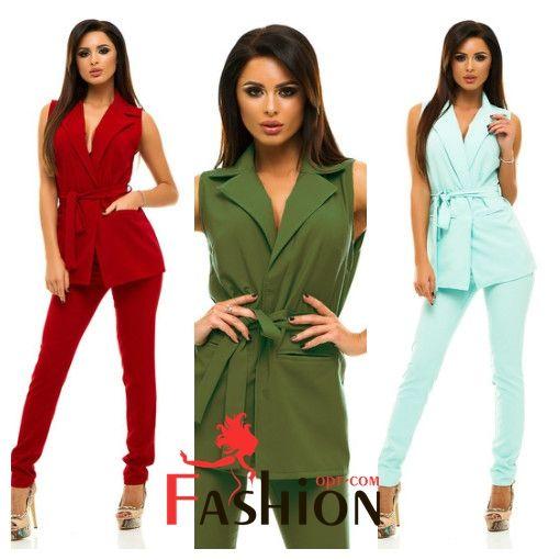 ❤️1️⃣4️⃣4️⃣9️⃣руб❤️ Брючный костюм с жилетом на поясе 223 Размер: XL; S; M; L Производитель: ELFBERG Ткань: Костюмка Цвета: бордовый, темно-синий, мятный, малиновый, зеленый, розовый, персиковый, голубой, хаки.