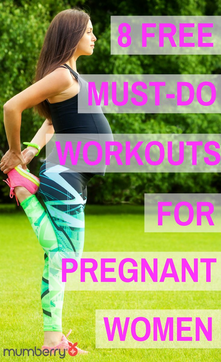 Free, total body prenatal workouts for pregnant women