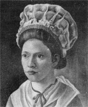 """Lydia Darragh (1729-1789) was an American woman said to have crossed British lines during the British occupation of Philadelphia, Pennsylvania during the American Revolutionary War, delivering information to George Washington and the Continental Army that warned them of a pending British attack. British Intelligence agents eventually become aware of her """"bag of flour"""" trick, but a bit too late!"""