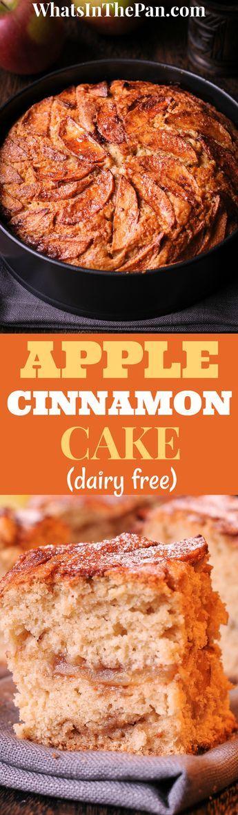 Apple Cinnamon Cake, dairy free, spring form