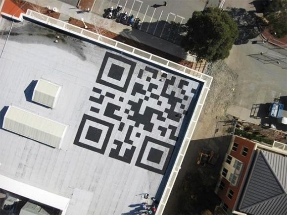 Facebook Paints A 42ft QR Code On Its Headquarters