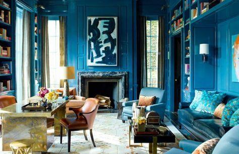 Couleur bleu canard deco paon bleu cool design