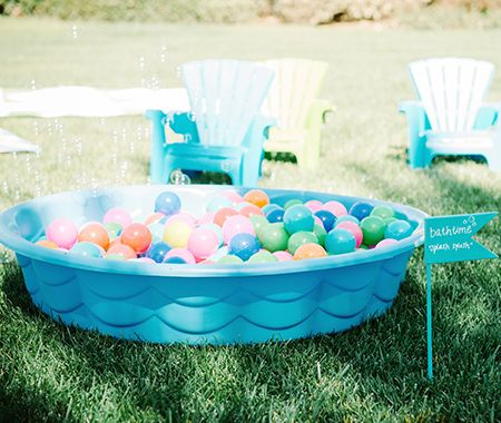 Activities for a first birthday party can be a bit tricky but this diy ball pit is just the thing.