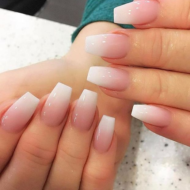 Wedding Nails Pink And White Ombre Nail Designs Short Acrylic Nails Ombre Nails